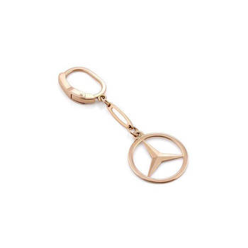 Золотой брелок Мерседес (Mercedes-Benz) BZ0201