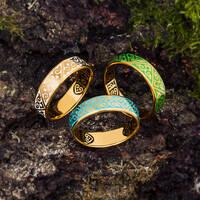 """Серебряное кольцо """"Спаси и сохрани"""" с эмалью KLSPE01"""