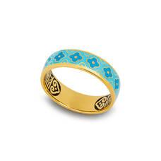 """Кольцо """"Спаси и сохрани"""" с эмалью (серебряное) KLSPE0205"""