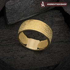 """Золотое кольцо с молитвой Молитва """"22 псалом Давида"""" KLZ0202"""