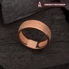 """Золотое кольцо с молитвой """"Отче Наш"""" KLZ0301"""