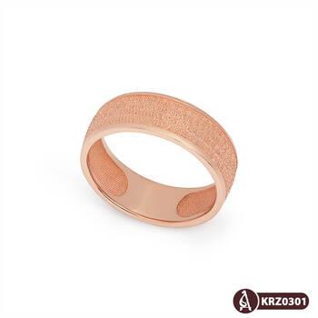 """Кольцо с молитвой """"Отче Наш"""" (красное золото)  KLZ0301"""