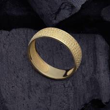 """Золотое кольцо с молитвой """"Отче Наш"""" KLZ0302"""