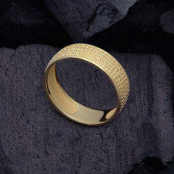 Кольцо Отче Наш из желтого золота KLZ0302