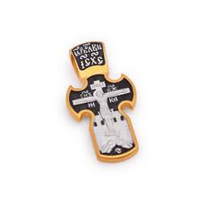 Крест нательный - Распятие Господа нашего Иисуса Христа, свт. Николай Чудотворец KRSP03