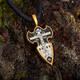 Крест православный серебряный - Распятие Господа нашего Иисуса Христа, вмч. Георгий Победоносец KRSP04