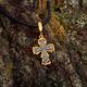 Крестик нательный серебряный с Распятием Господа нашего Иисуса Христа и молитвой KRSP05