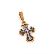 Крестик женский серебряный, Распятие Господа нашего Иисуса Христа KRSP10