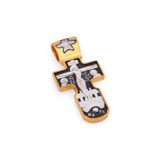 Крест нательный - Распятие Господа нашего Иисуса Христа, свт. апостол Андрей Первозванный KRSP12