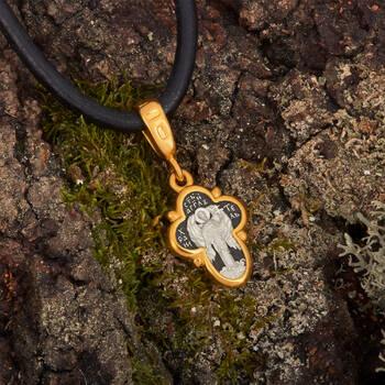 Крестик серебряный женский - Распятие Господа нашего Иисуса Христа, Ангел Хранитель KRSP13