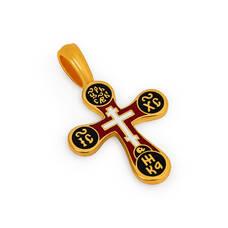 Крест нательный с эмалью - Голгофский KRSPE0306