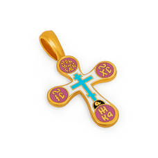 Крест нательный с эмалью - Голгофский KRSPE0310