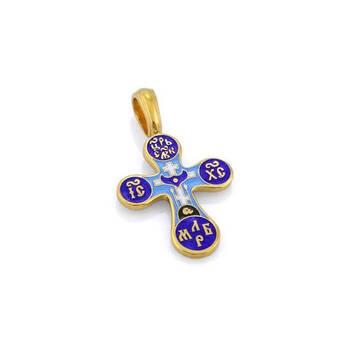 Крест Голгофа с цатой серебряный KRSPE0401