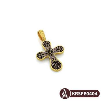 Крест нательный с эмалью - Голгофский KRSPE0404