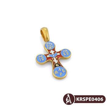 Крест нательный с эмалью - Голгофский KRSPE0406