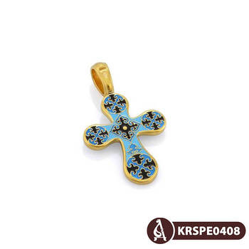 Крест нательный с эмалью - Голгофский KRSPE0408