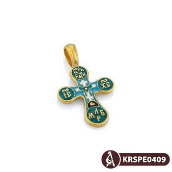 Крест нательный с эмалью - Голгофский KRSPE0409