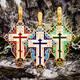 Крест нательный с эмалью - Голгофский KRSPE08