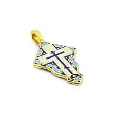 Крест нательный с эмалью - Голгофский KRSPE0802