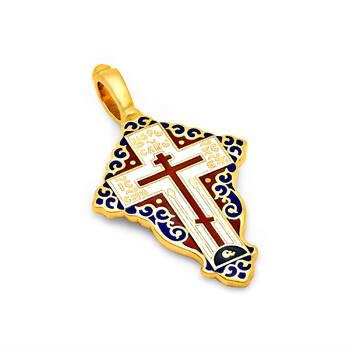 Крест нательный с эмалью - Голгофский KRSPE0805