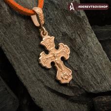 Крестик нательный золотой - Распятие Господа нашего Иисуса Христа KRZ1001
