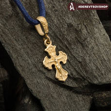 Крестик нательный золотой - Распятие Господа нашего Иисуса Христа KRZ1102