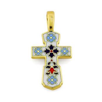 Золотой крест с эмалью - Голгофский KRZE0101