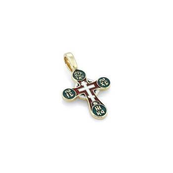 Золотой крест с эмалью - Голгофский KRZE0501