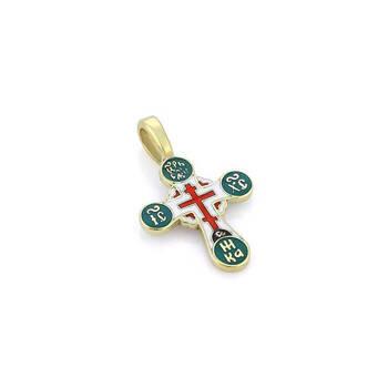 Крестик золотой с эмалью - Голгофский KRZE0502