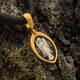 Нательная иконка серебряная - образ Святой Ангел Хранитель PISP01