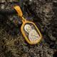 Нательная иконка серебряная - образ Пресвятой Богородицы Владимирской PISP06