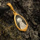 Нательная иконка серебряная - образ святой мученицы Татианы Римской и Ангела Хранителя PISP09