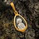 Нательная иконка серебряная - образ святой равноапостольной Нины и Ангела Хранителя PISP11