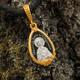 Нательная иконка серебряная - образ святой блаженной Ксении Петербургской и Ангела Хранителя PISP12