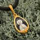 Нательная иконка серебряная - образ святой блаженной Матроны Московской и Ангела Хранителя PISP14