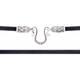 Гайтан для крестика из шелковой нити с серебряной застежкой, D 3,0 мм (арт. SHS3003)