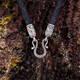Гайтан из натуральной плетеной кожи с серебряной застежкой, D 3,5 мм (арт. SHS3502)