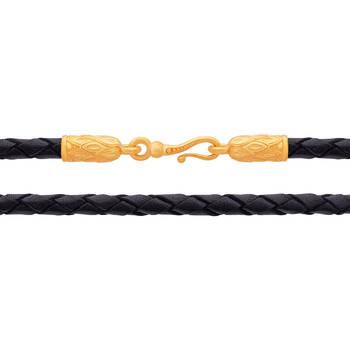 Кожаный шнурок для крестика (D 3,0 мм) (арт. SHSP3004)