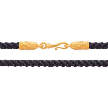 Гайтан для крестика плетеный из шелковой нити с позолоченной застежкой, D 3,0 мм (арт. SHSP3005)