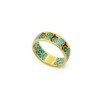 Серебряное кольцо с эмалью SKLSPE0101