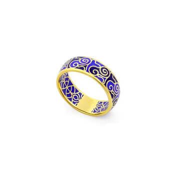 Серебряное кольцо с эмалью SKLSPE0102