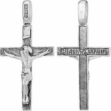 Православный крест - Распятие Иисуса Христа с молитвой Спаси и сохрани (арт. 21111-132)