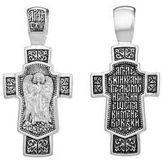 Серебряный крест Ангел Хранитель на щите (арт. 21111-183)