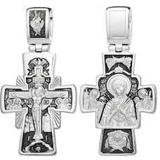 Нательный крест - Распятие, Семистрельная (Умягчение злых сердец) икона Божьей Матери, Архангел Михаил и Гавриил (арт. 21111-190)