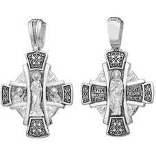 Нательный крест - Господь Вседержитель, Сергий Радонежский (арт. 21111-217)