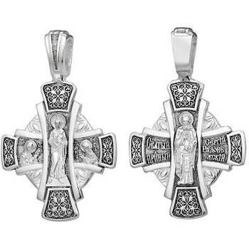 Крест большой православный: Господь Вседержитель, Сергий Радонежский (арт. 21111-217)