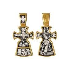 Православный крестик: Распятие, Архангел Михаил, благоразумный разбойник (арт. 21112-157)