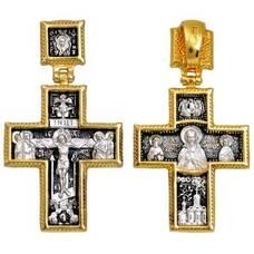 Православный крест - Распятие Иисуса Христа, Сергий Радонежский (арт. 21112-227)