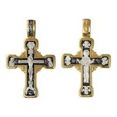 Православный крест - Распятие Иисуса Христа, икона Покрова Пресвятой Богородицы (арт. 21112-232)