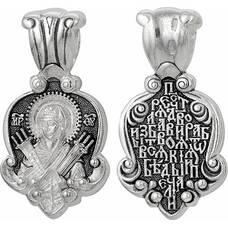 Нательная икона (образок) Семистрельная Божья Матерь (Умягчение злых сердец) с молитвой (арт. 21211-10)
